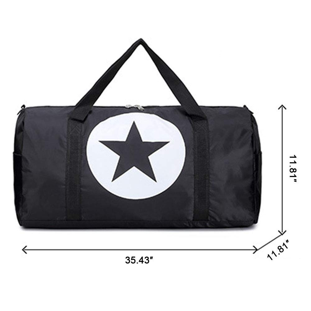 Large Cozinest Black Duffle Bag Star Sport Gym Carry-On Travel Luggage Tote HandBag 36//24//18