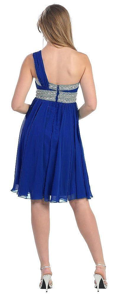 US Fairytailes One Shoulder Prom Cocktail Dress New Elegant #2841