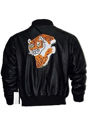 Excliria Rocky Ii Tiger Rocky Balboa Schwarz Lederjacke Leather