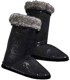 d315183257b Harley-Davidson Women s Black Allover Sequin Slipper Boots