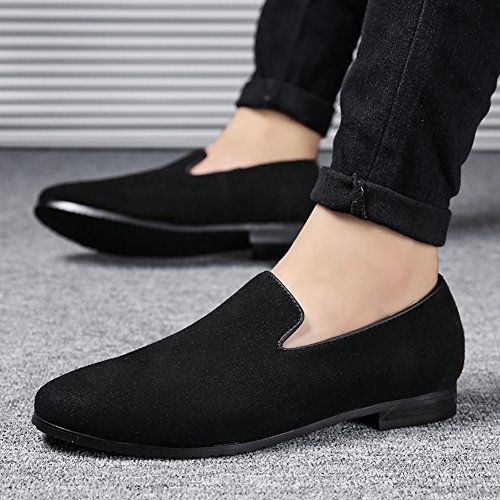 Loafers on Black Pure Shoes Comfortable Men's MoreDays Leather Casual PU Color Slip Moccasins Noble Driving Boat Fashion n8tTWaEW