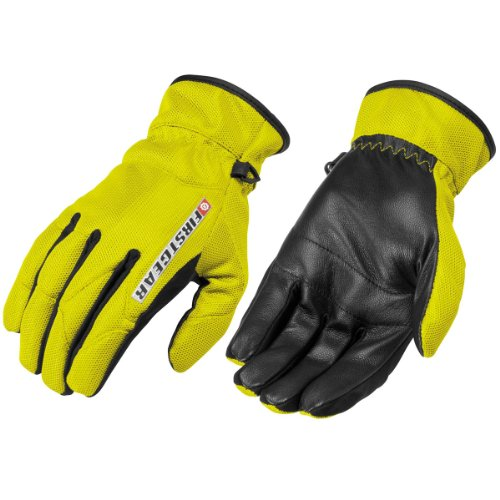 Firstgear Street Bike - FirstGear Ultra Mesh Women's Vented Textile/Leather Street Bike Motorcycle Gloves - DayGlo / 2X-Large