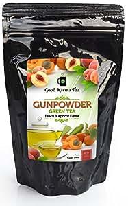 Good Karma Tea Gunpowder Peach Apricot Green Tea, 4 oz