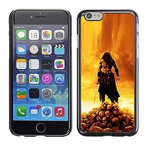 A-type Arte & diseño plástico duro Fundas Cover Cubre Hard Case Cover para Apple (4.7 inches!!!) iPhone 6 / 6S (Bárbaro Guerra Señor)