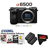 Sony Alpha a6500 Mirrorless Digital Camera (Body Only) International Version (No Warranty) + Extra Battery Bundle