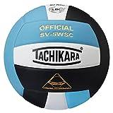 Tachikara SV5WSC Sensi-Tec Composite High Performance Volleyball (Powder Blue/White/Black)