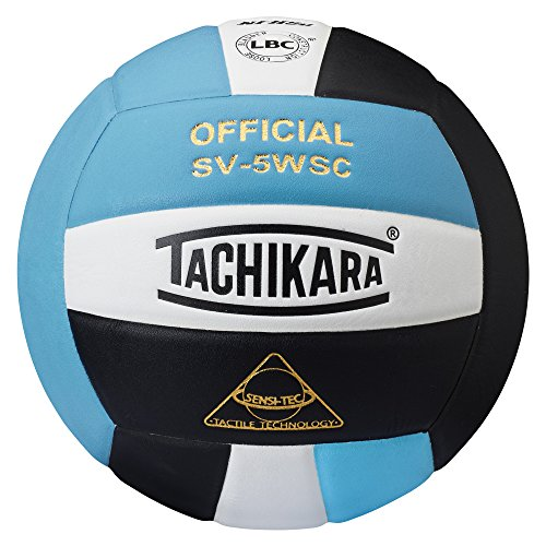 Tachikara SV5WSC Sensi-Tec Composite High Performance Volleyball (Powder Blue/White/Black)