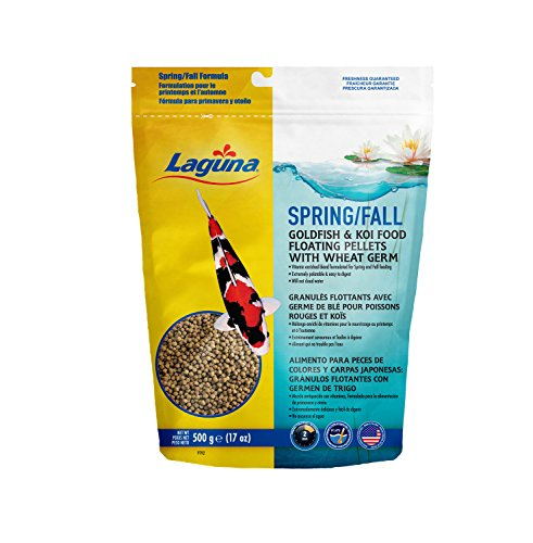 Hagen Pond Laguna Koi (Laguna Spring & Fall Floating Food with Wheat Germ, 17 oz)