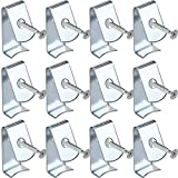 MAZU Flower Pot Clips 12 Pcs Hard Steel Durable Klips for Indoor/Outdoor Garden Decorate Plant Hanger Hooks Plant Pot Holders (12)