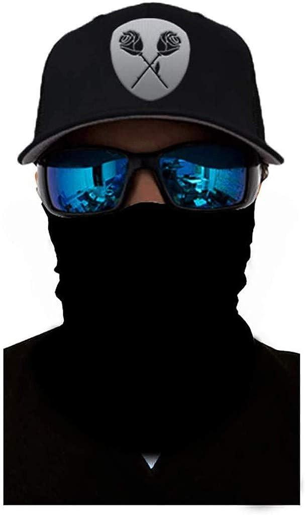 Women Men Washable Wind Motorcycle Scarf,Unisex Bandana Scarf Face Rave Neck Gaiters Dust Cloth Face Scarf