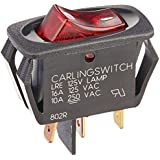 Oreck Switch, Kit Lighted with 1/8 Terminals Type 6/7