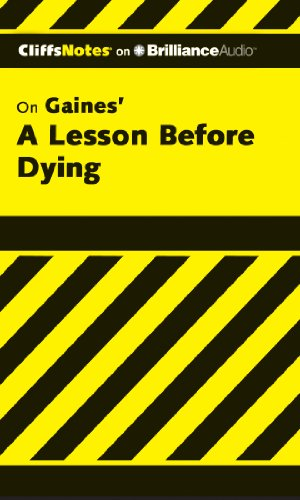 A Lesson Before Dying (Cliffs Notes Series)