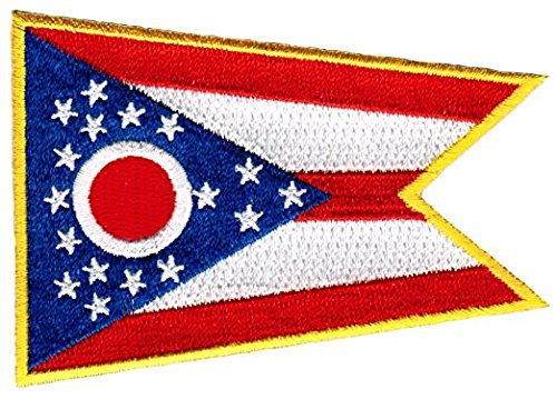 "Ohio Flag Patch / Iron-On Emblem (U.S. State OH, 2.5"" x 3.5"")"