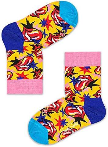 ハッピーソックス × The Rolling Stones(ローリングストーンズ )I GOT THE BLUES(アイ ゴット ザ ブルース )子供 クルー丈 ソックス ジュニア キッズ