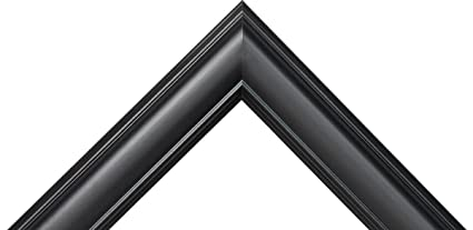 Amazoncom Satin Black Picture Frame Great For 34 Canvas