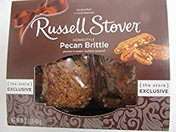 Russell Stover Pecan Brittle Caramel 16oz Exclusive Homestyle Handcrafted