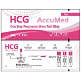 AccuMed Pregnancy (HCG) Test Strips Kit, FDA Approved, 50 count