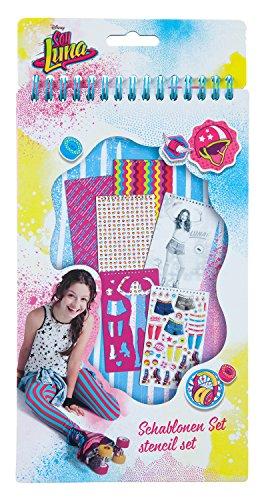 Undercover SORN0681 Kosmetiktasche, Disney Soy Luna, ca. 19 x 26 x 9 cm Schablonen Set, 34 Teilig