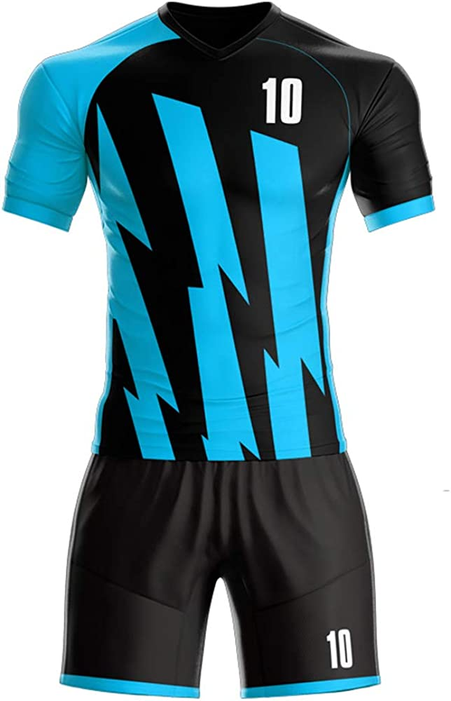 Amazon Com Custom Jerseys 2019 2020 Away Football Jerseys Add Your Team Name And Number Blue Xxs Clothing