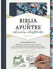 RVR 1960 Biblia de apuntes, edicion ilustrada, tela en rosado y azul