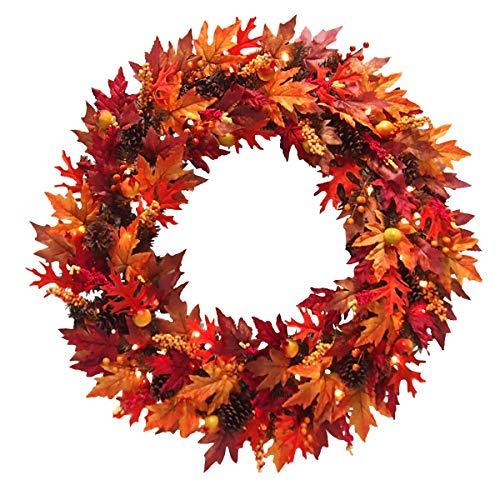 - National Tree Harvest Collection Wreath, 36 Inch, Orange