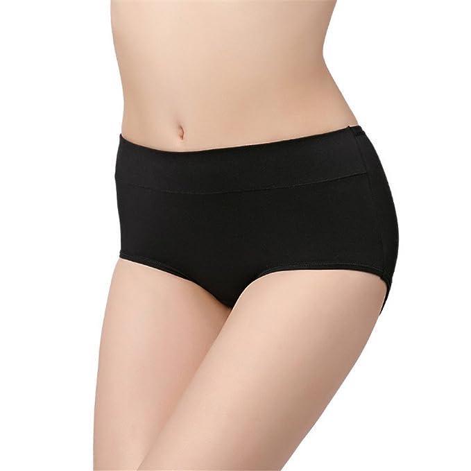 Señoras ropa interior sin costuras, con entrepierna de algodón pantalones mediados de mujer sexy triángulo: Amazon.es: Ropa y accesorios