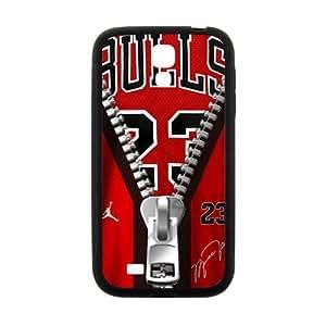 Cool painting Creaitve Pattern Bulls 23 Zipper Fahionable And Popular Back Case Cover For Samsung Galaxy S4 wangjiang maoyi