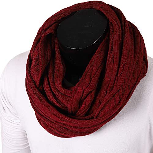 FORBUSITE Stylish Men Cable Soft Knit Infinity Scarf for sale  Delivered anywhere in Canada