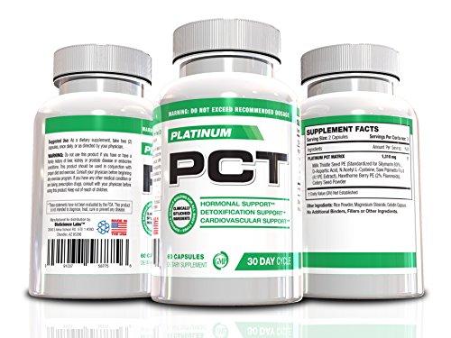 Cycle Soutien post-cycle-thérapie Platinum PCT-Post & Testostérone, Foie soutien et augmenter les niveaux de testostérone libre, 60 capsules, cycle de 30 jours, supplément anti-œstrogènes, les inhibiteurs anti-Aromtase, à bâtir des muscles (Haut Évalué PC