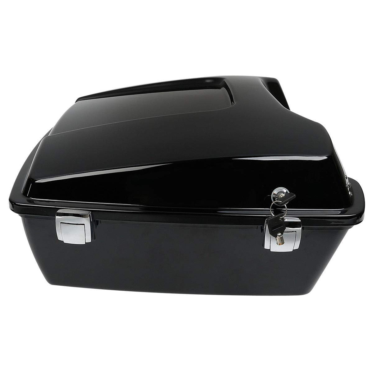 Black Latches TCMT Chopped Tour Pak Pack Trunk W//Black Latch Mounting Rack Fits For Harley Street Road Gilde 1997-2013