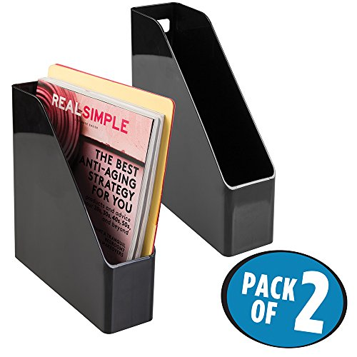 mDesign Supplies Organizer Magazines Notebooks