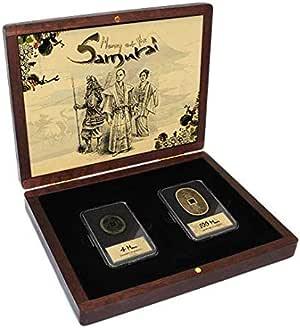 IMPACTO COLECCIONABLES Moneda del Mundo - Colección de 3 Monedas de los Samurais: Amazon.es: Juguetes y juegos