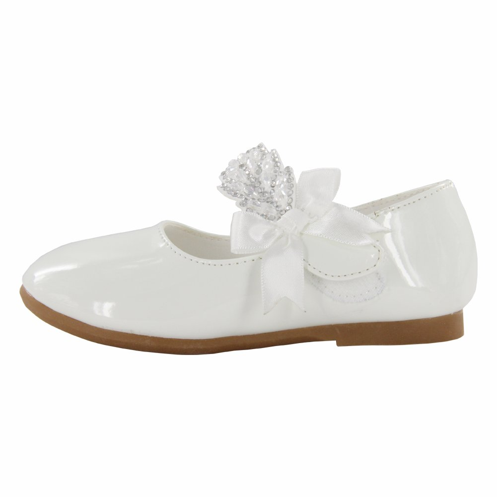 Maxu Little Girl Ballet Mary Jane Shoe,White,Little Kid,11M by Cixi Maxu E-Commerce.Co.Ltd (Image #2)
