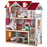 Best Dollhouses - TOP BRIGHT Wooden Dream Dollhouse with 15 pcs Review