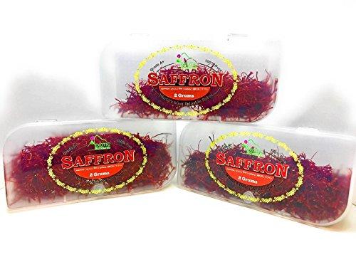 Genuine Grade A+, Premium Quality All Red , Organically Grown SARGOL Saffron (0.07 Oz / 2 Grams)