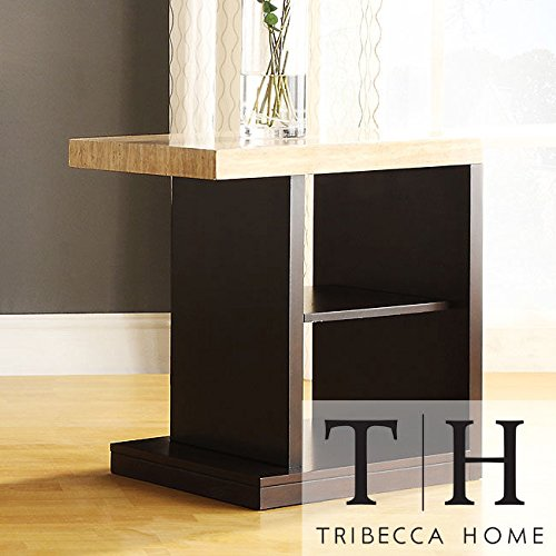 Metro Shop Tribecca Home Doncaster Faux Marble Top Dark Cherry Modern End Table