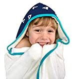 Toddler to Kids Hooded Towel - Extra Soft & Thick 500GSM Bamboo Terry | Hypoallergenic & Antibacterial |Oversized with 2 Layer Hood for Warmer Girls & Boys After Bath, Beach, Pool, or Swim
