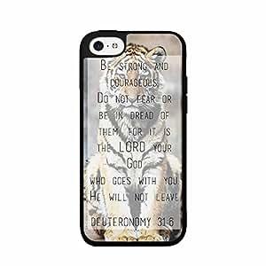 Zheng caseZheng caseDeuteronomy 31:6 Bible Verse TPU RUBBER SILICONE Phone Case Back Cover iPhone 5c