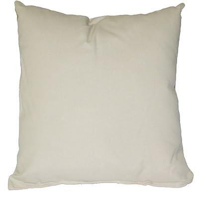 Essentials by DFO Oatmeal Sunbrella Outdoor Throw Pillow (19 in. x 19 in.) : Garden & Outdoor