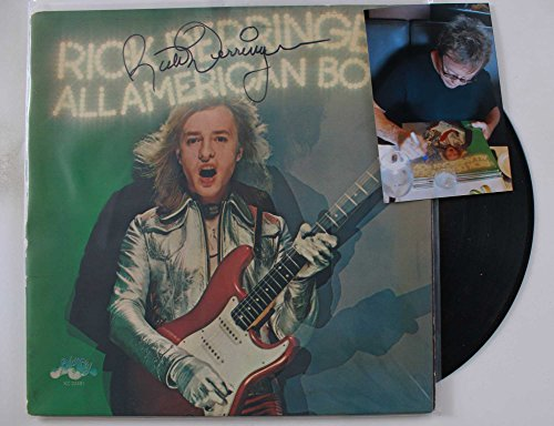 "Rick Derringer Signed Autographed ""All American Boy"" Record Album w/ Signing Photo"