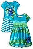 Girls Clothing Best Deals - Disney Little Girls' Finding Dory Dresses I Speak Whale, Green, 6 (Pack of 2)