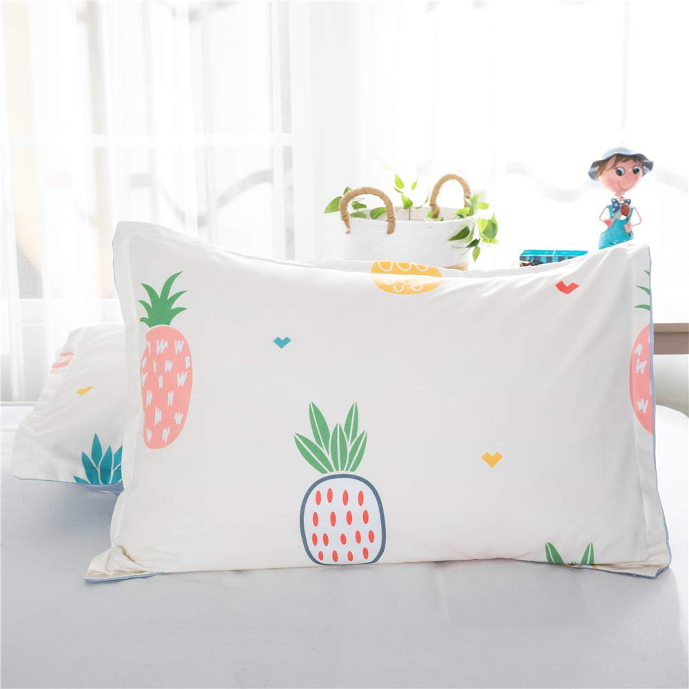 Full//Queen, Banana Leaves DeerHome Banana Leaves Print Pattern Premium Queen Bedding Collections with 4 Corner Ties Queen Bedding Duvet Cover Sets for Boys Girls