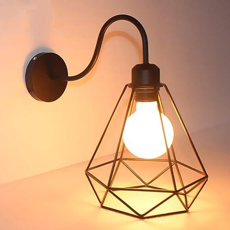 Apliques de Pared Vintage Jaula Lámpara Industrial Lámpara de ...