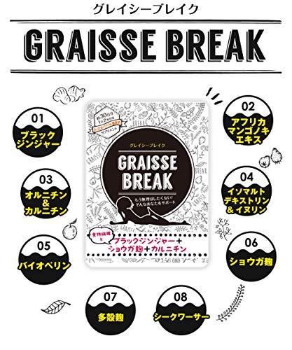 Japanese Popular Diet Supplement Graisse Break 30days(60tablets) by Graisse Break (Image #4)