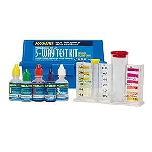 Poolmaster 22270 5 way test kit with case premier swimming pool maintenance for Swimming pool test kits amazon