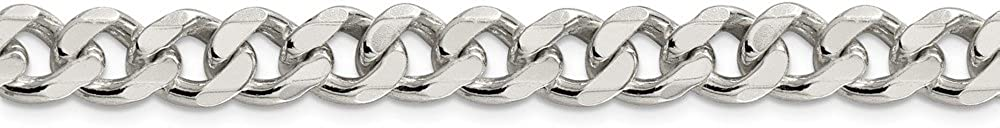 925 Sterling Silver 9mm Curb Chain 20 Inch