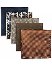 XQWLP 5 piezas colorido surtido para hombre bolsillo cuadrado seda clásico conjunto de pañuelo de pañuelo colorido (Color : B, Size : 32x32CM)