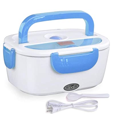 WeChef Electric Heating Lunch Box Portable Food Warmer Heater 1.5L with Removable Stainless Steel Container Blue: Home Improvement