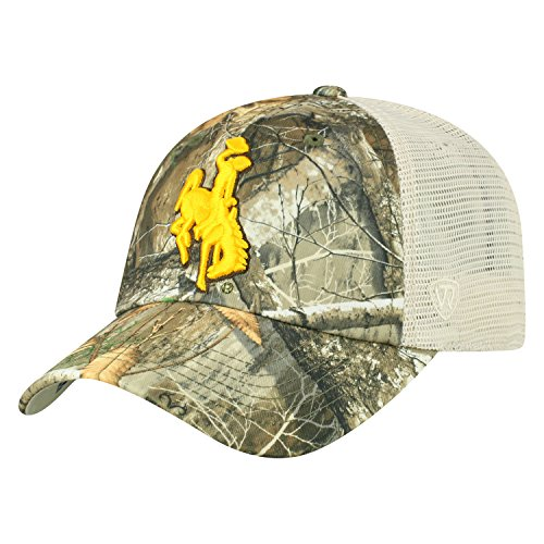 - Top of the World Wyoming Cowboys Official NCAA Adjustable Sentry Realtree Poly Twill and Mesh Hat Cap 368566