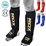 RDX Shin Guards MMA Instep Foam Pad Support Boxing Leg Foot Protective Gear Kickboxing (CE Certified Approved by SATRA)